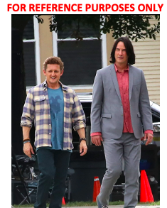 Lot #57 – Bill & Ted Face The Music (2020) Ted Keanu Charles Reeves Production Used Suit & Shirt