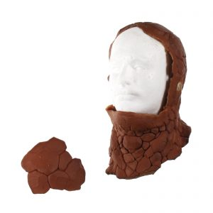 """Lot #87 – Fantastic Four (2005) Ben Grimm """"Thing"""" Michael Chiklis Production Made Prosthetic Cowl Head & Head Piece"""