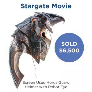 Stargate Screen Used Horus Guard Helmet