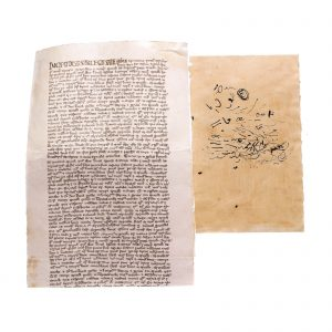 Lot #44 – Vikings Screen Used Rollo Document & Sinric's Doodle Ep 401 & 413