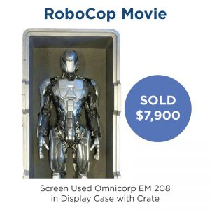 RoboCop Movie Screen Used EM 208 in Case