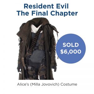 Alice's Costume from Resident Evil The Final Chapter