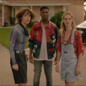 Lot #39 – Bill & Ted Face The Music (2020) Thea Samara Weaving Screen Worn Shirts, Coveralls & Jewelry Ch 2