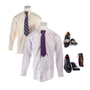 Lot #34 – Bill & Ted Face The Music (2020) Cheif Logan Hal Landon Jr Screen Worn Shirts Ties Shoes & Louis Armstrong Shoes
