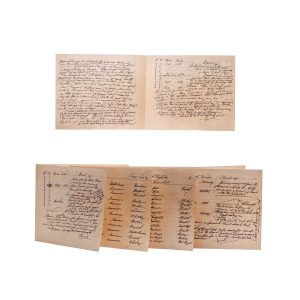 Lot #53 – Black Sails (2014-2017) Screen Used Eleanor & Frasier's Documents Ep 208