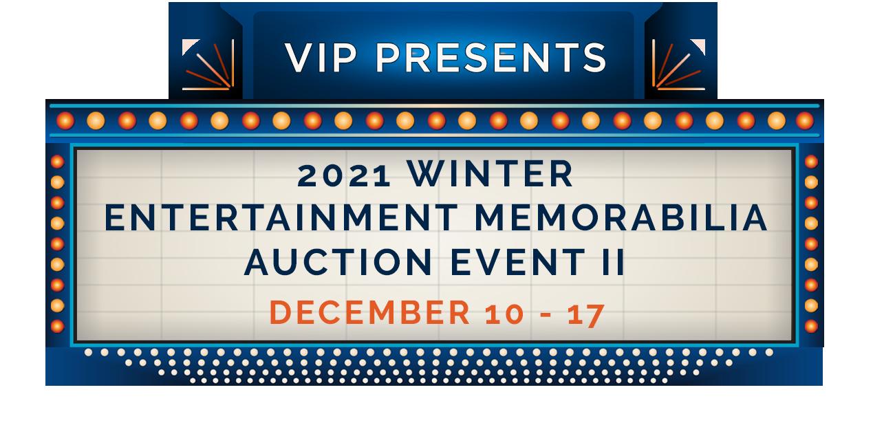 Winter Entertainment Memorabilia Auction 2