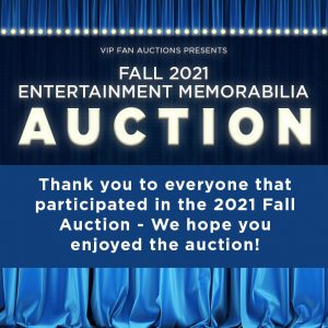 Thank you for participating in the auction